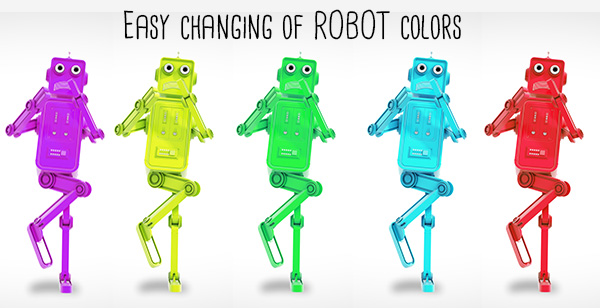 Character Design Animation Toolkit After Effects Project : Funny robot character animation toolkit corporate