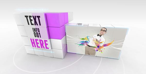 立方体旋转变形企业产品推广AE模板 Transforming Cube